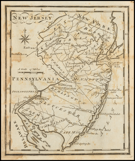 New Jersey Map By Joseph Scott