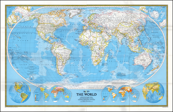 31-World and World Map By National Geographic Society