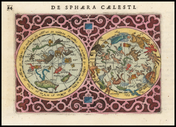 39-Celestial Maps Map By Jodocus Hondius