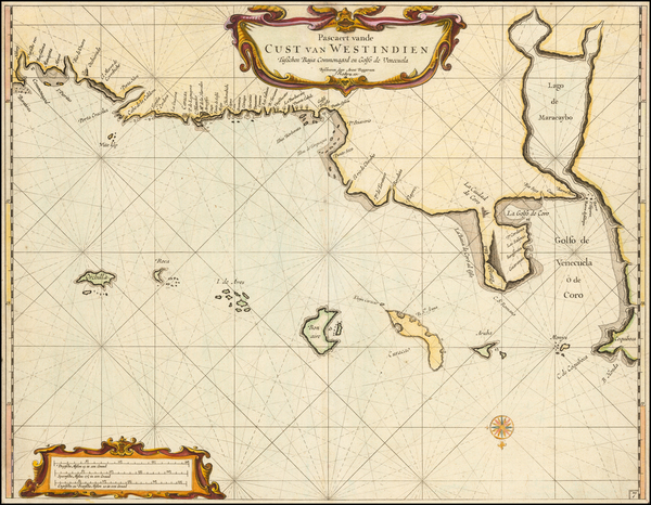 71-Other Islands and South America Map By Arent Roggeveen / Jacobus Robijn
