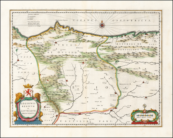 89-Spain Map By Willem Janszoon Blaeu
