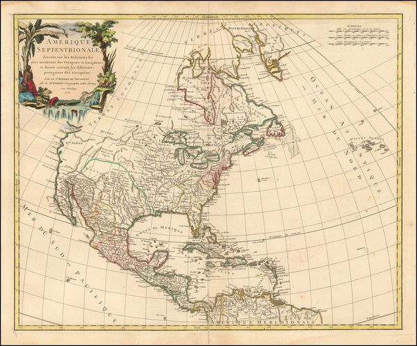2-North America Map By Gilles Robert de Vaugondy