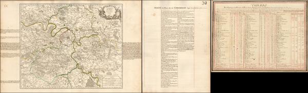 33-France and Paris Map By Gilles Robert de Vaugondy