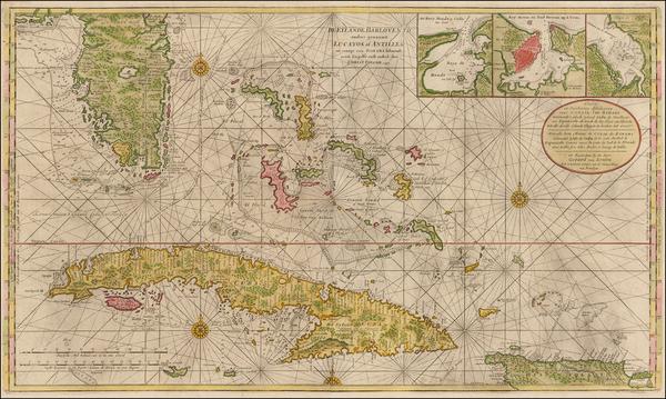 13-Florida, Southeast, Caribbean and Cuba Map By Gerard Van Keulen
