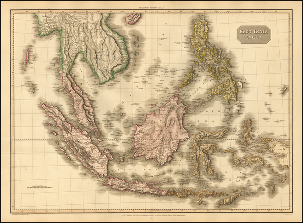65-Southeast Asia, Philippines, Indonesia and Malaysia Map By John Pinkerton
