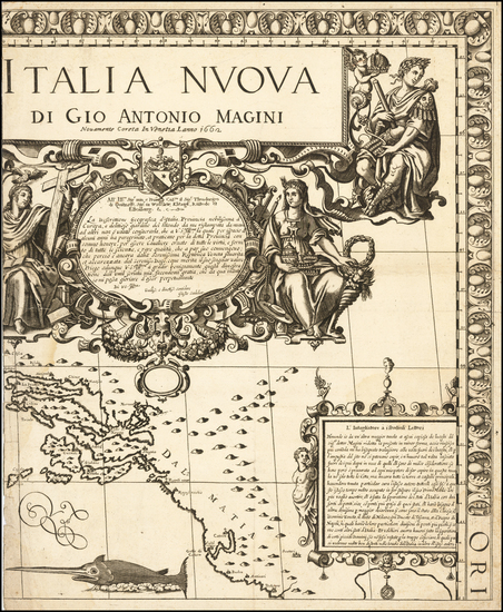 61-Balkans and Italy Map By Giovanni Antonio Magini