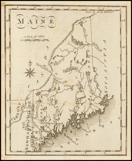 54-Maine Map By Joseph Scott