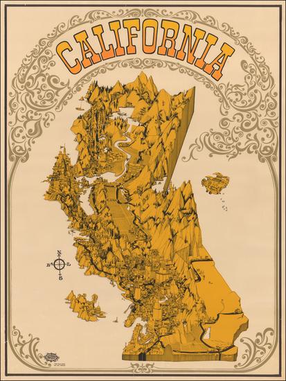 60-California Map By David Schiller