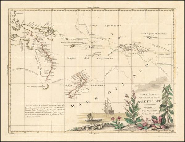 51-Australia & Oceania, Pacific, Australia, Oceania and New Zealand Map By Antonio Zatta