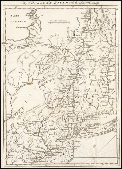 57-Mid-Atlantic Map By Gentleman's Magazine