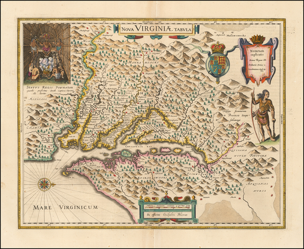 9-Mid-Atlantic and Southeast Map By Willem Janszoon Blaeu