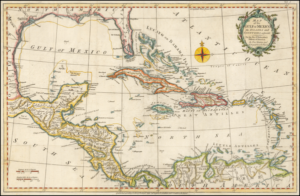 97-Caribbean Map By Thomas Kitchin