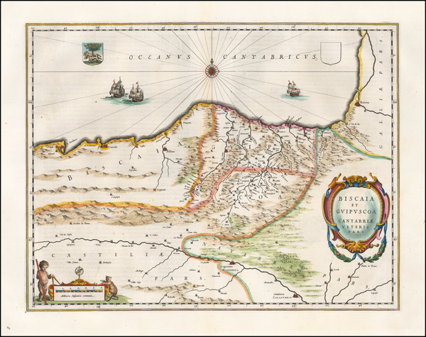 46-Spain Map By Willem Janszoon Blaeu