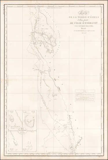 21-Australia Map By Louis Claude Desaulses de Freycinet