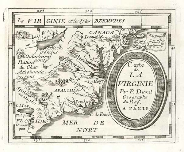 12-Mid-Atlantic and Southeast Map By Pierre Du Val