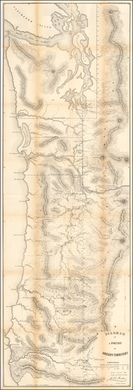 16-Oregon and Washington Map By U.S. General Land Office