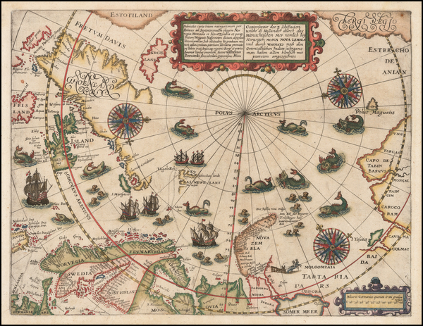 74-Northern Hemisphere, Polar Maps, Russia, Baltic Countries, Scandinavia, Iceland and Russia in A