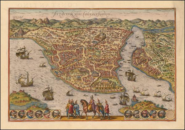 1-Turkey and Turkey & Asia Minor Map By Georg Braun  &  Frans Hogenberg