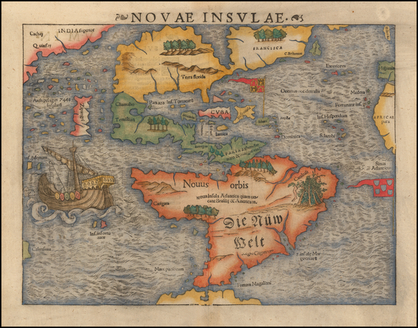 94-Western Hemisphere, North America, South America, Japan, Pacific and America Map By Sebastian M