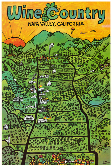 30-California Map By Earl Thollander