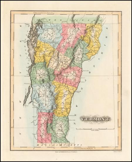 27-Vermont Map By Fielding Lucas Jr.