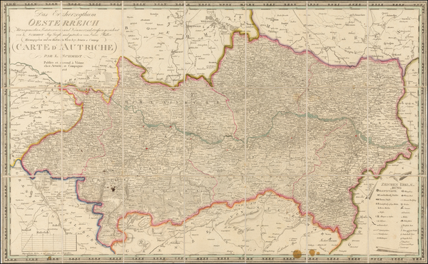 50-Austria Map By Ludwig Schmidt