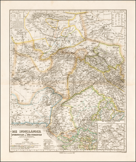 98-Central Asia & Caucasus Map By Heinrich Kiepert