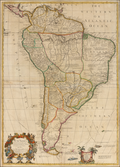 76-South America Map By Charles Price