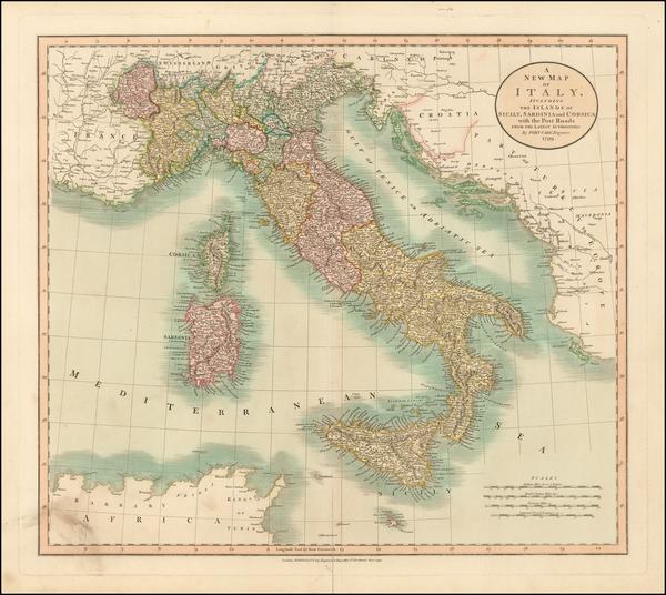 0-Italy Map By John Cary