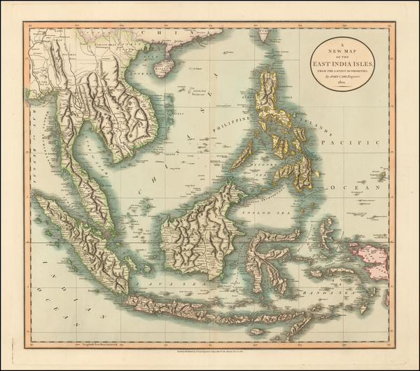 75-Southeast Asia, Philippines, Indonesia, Malaysia and Thailand, Cambodia, Vietnam Map By John Ca