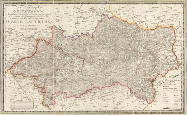 23-Austria Map By Ludwig Schmidt