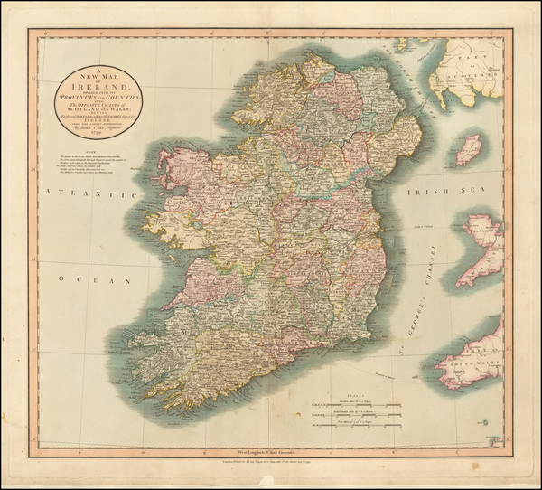 98-Ireland Map By John Cary
