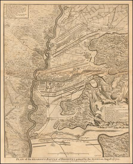 38-Germany Map By Paul de Rapin de Thoyras