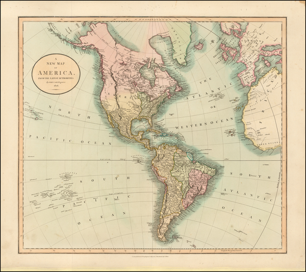 74-South America and America Map By John Cary