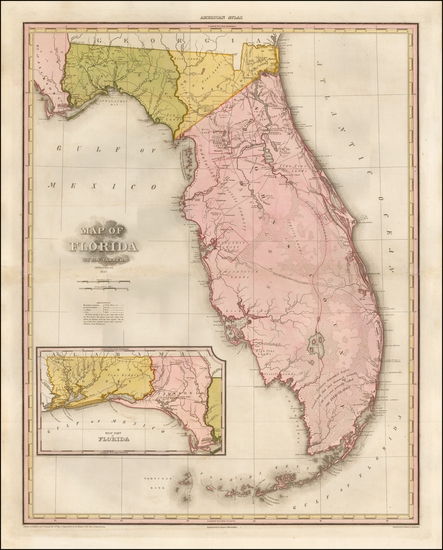 78-Florida Map By Henry Schenk Tanner