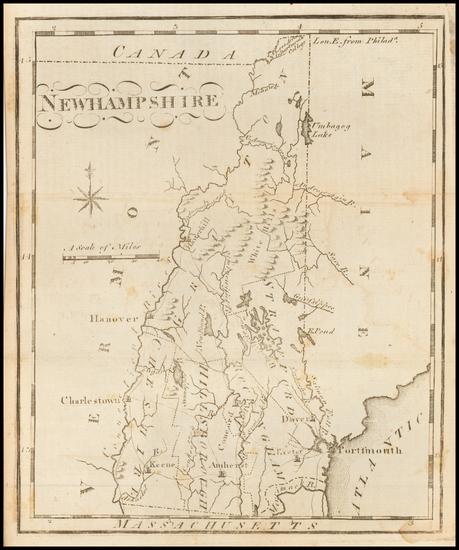 47-New Hampshire Map By Joseph Scott