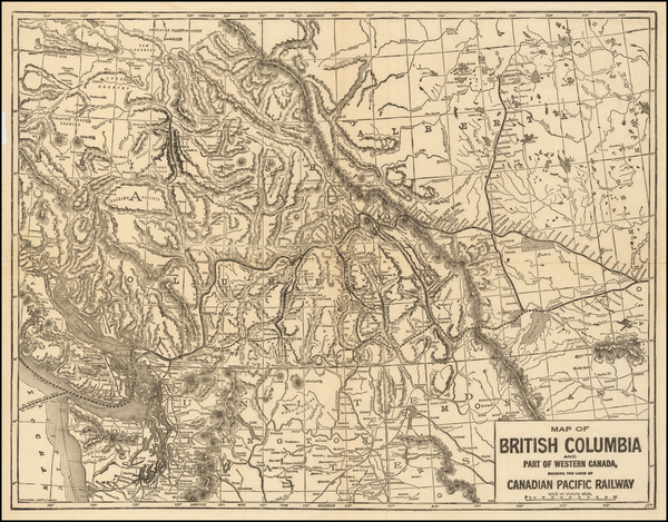 1-British Columbia Map By Poole Brothers
