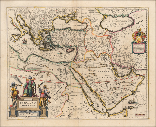 36-Turkey, Mediterranean, Balearic Islands, Middle East and Turkey & Asia Minor Map By Willem