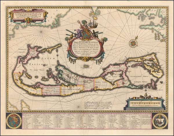 19-Bermuda Map By Willem Janszoon Blaeu