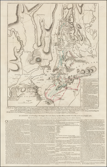 63-American Revolution Map By William Faden
