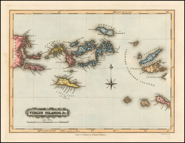 48-Virgin Islands Map By Fielding Lucas Jr.