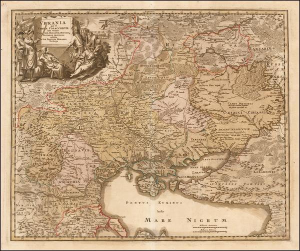 34-Russia, Ukraine, Romania and Balkans Map By Johann Baptist Homann