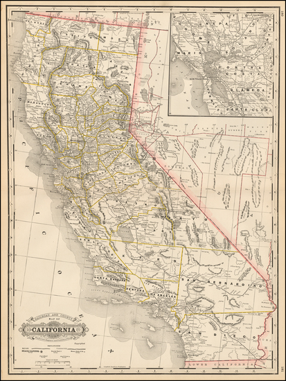 77-California Map By George F. Cram