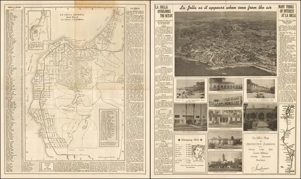 85-San Diego Map By La Jolla Printing Company