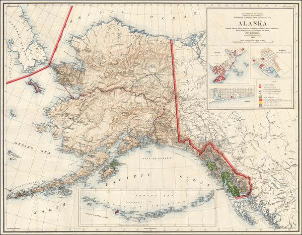 3-Alaska Map By General Land Office