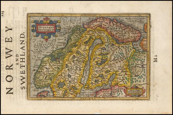 16-Scandinavia Map By Jodocus Hondius / Samuel Purchas