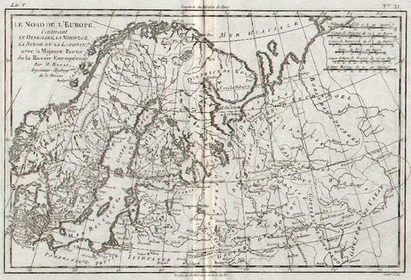 60-Europe, Russia, Baltic Countries and Scandinavia Map By Rigobert Bonne