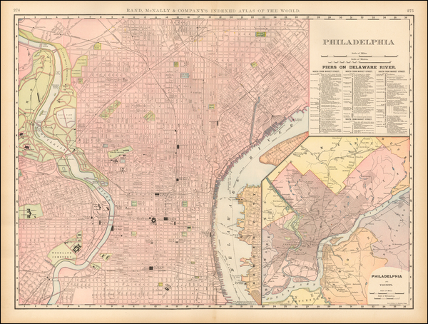 4-Pennsylvania and Philadelphia Map By William Rand  &  Andrew McNally