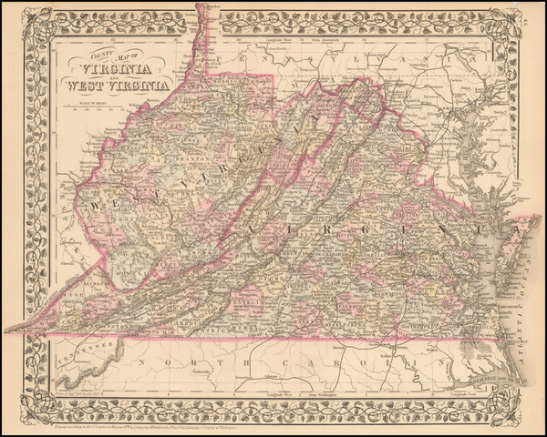 1-Mid-Atlantic and Southeast Map By Samuel Augustus Mitchell Jr.