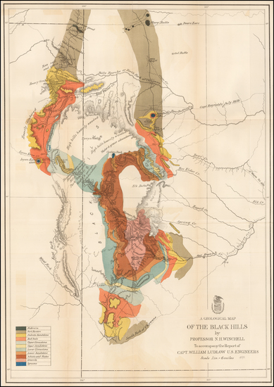 76-Plains and Rocky Mountains Map By United States Bureau of Topographical Engineers